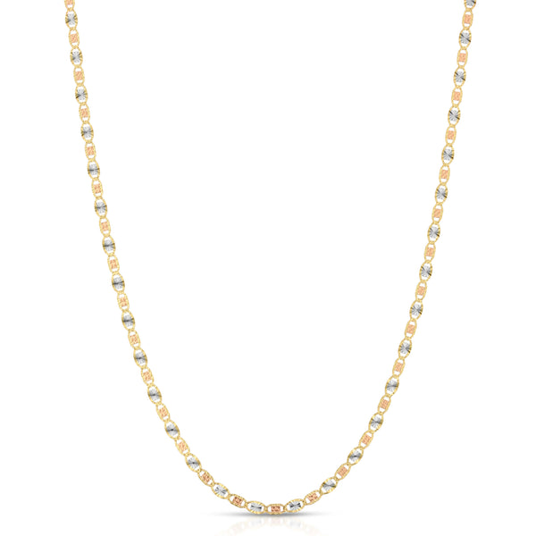 3.0MM VALENTINO - SOLID 14K GOLD CHAIN