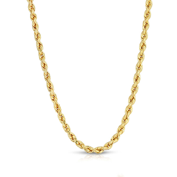 4.0MM D/C ROPE - HOLLOW 10K GOLD CHAIN