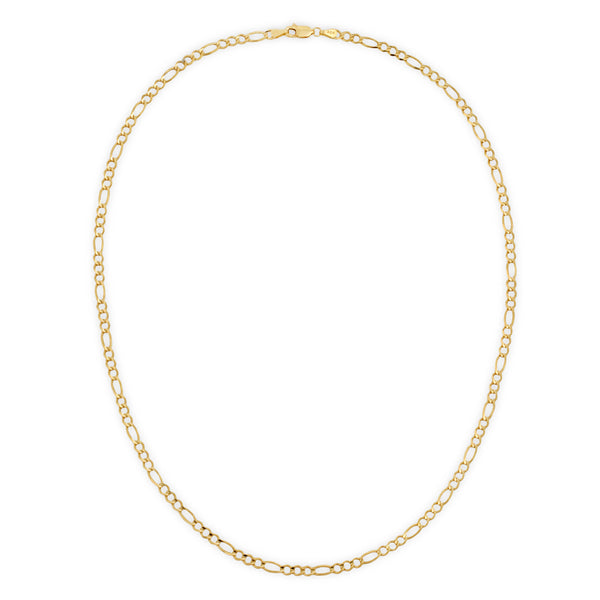 4.0MM FIGARO - SOLID 10K GOLD CHAIN