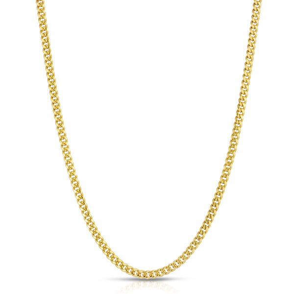 4.0MM MIAMI CUBAN LINK - HOLLOW 14K GOLD CHAIN