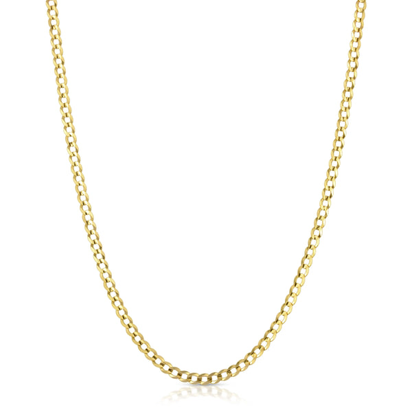 4.0MM CUBAN LINK (FLAT CURB) - SOLID 10K GOLD CHAIN