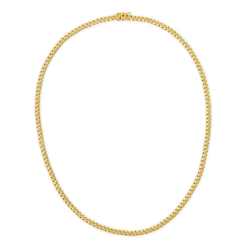 4.5MM MIAMI CUBAN LINK - HOLLOW 14K GOLD CHAIN