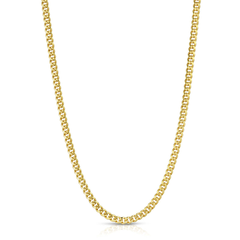 4.5MM MIAMI CUBAN LINK - HOLLOW 10K GOLD CHAIN - BOX CLASP LOCK