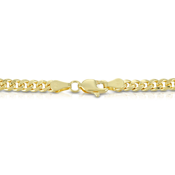 4.0MM MIAMI CUBAN LINK - HOLLOW 10K GOLD CHAIN