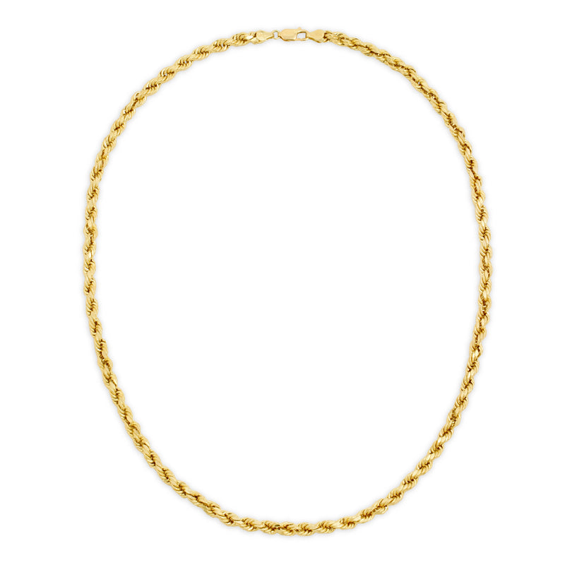 5.0MM D/C ROPE - HOLLOW 10K GOLD CHAIN