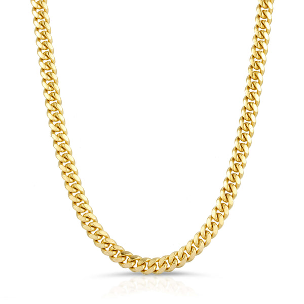 5.0MM MIAMI CUBAN LINK - SOLID 10K GOLD CHAIN