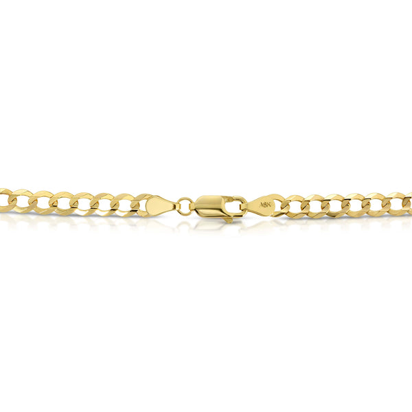 5.0MM CUBAN LINK (FLAT CURB) - SOLID 10K GOLD CHAIN