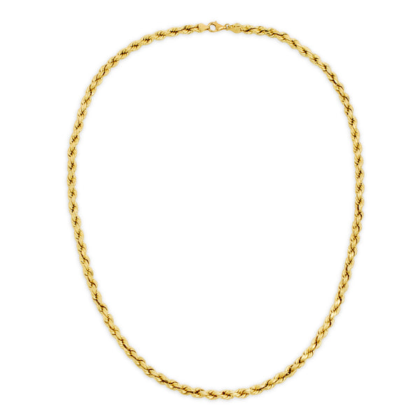 6.0MM D/C ROPE - HOLLOW 10K GOLD CHAIN
