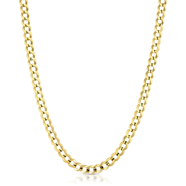 6.0MM CUBAN LINK (FLAT CURB) - SOLID 10K GOLD CHAIN