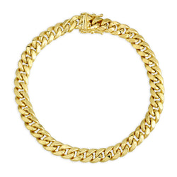 6.5MM MIAMI CUBAN LINK - HOLLOW 10K GOLD BRACELET