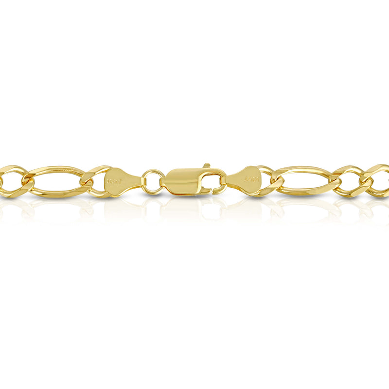 7.0MM FIGARO - SOLID 10K GOLD CHAIN