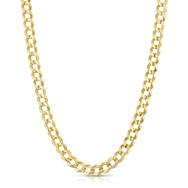 7.0MM CUBAN LINK (FLAT CURB) - SOLID 10K GOLD CHAIN