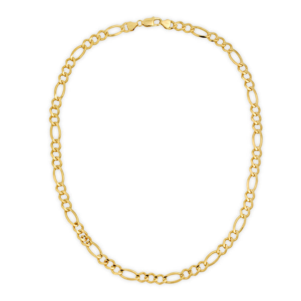 8.0MM FIGARO - SOLID 10K GOLD CHAIN