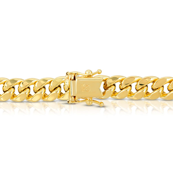 8.0MM MIAMI CUBAN LINK - HOLLOW 10K GOLD BRACELET