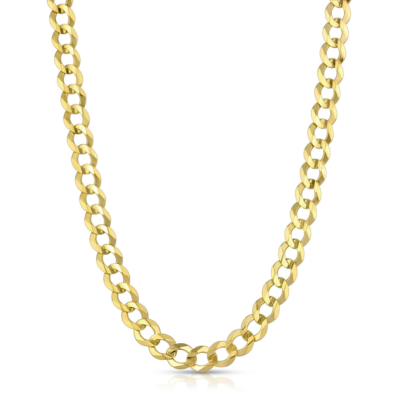 8.0MM CUBAN LINK (FLAT CURB) - SOLID 10K GOLD CHAIN