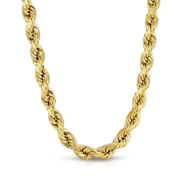 9.0MM ROPE - HOLLOW 10K GOLD CHAIN