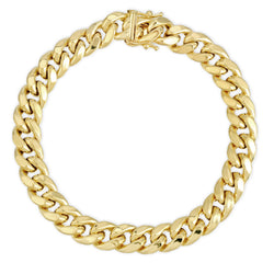 9.0MM MIAMI CUBAN LINK - HOLLOW 10K GOLD BRACELET