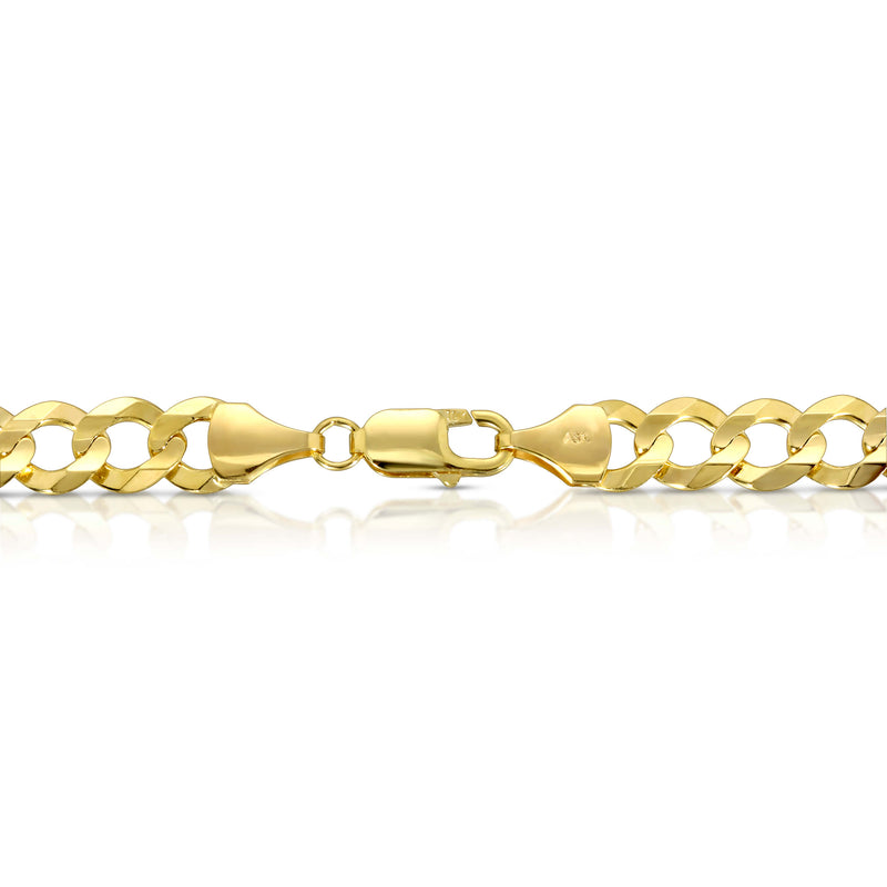 9.0MM CUBAN LINK (FLAT CURB) - SOLID 10K GOLD CHAIN
