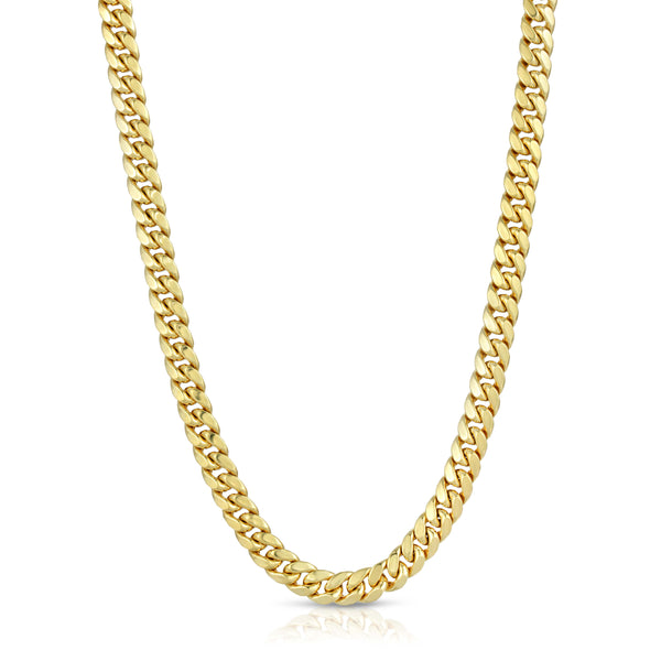 6.5MM MIAMI CUBAN LINK - HOLLOW 10K GOLD CHAIN - BOX CLASP LOCK