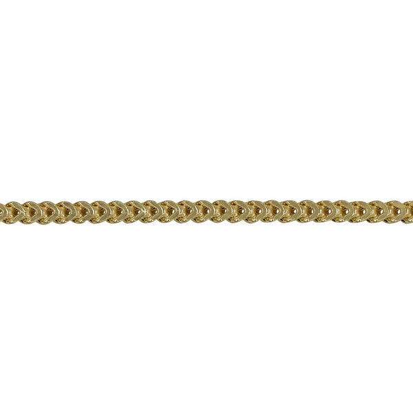 2.5MM FRANCO - HOLLOW 10K GOLD BRACELET - Super Jewelry Co.
