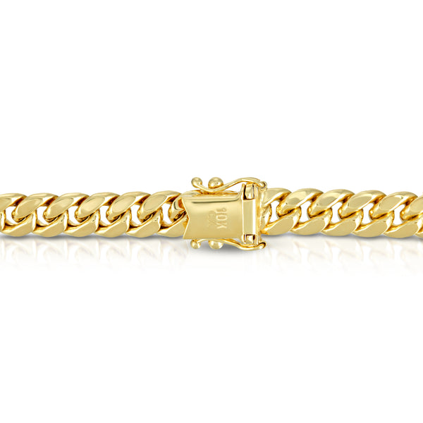5.5MM MIAMI CUBAN LINK - HOLLOW 10K GOLD BRACELET