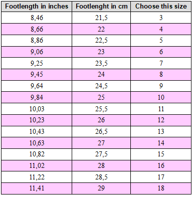 Amina drag queen size chart