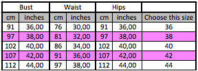 drag queen sequin dress size chart