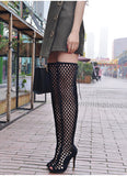 Resille - Fishnet Summer Boots - Plus size-Queenofdrag.com
