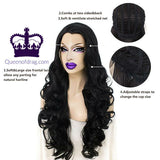 "26"" Black Drag Queen Wig-Queenofdrag.com"