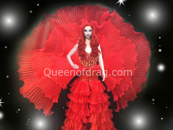 Flower - Amazing Custom Made Drag Queen Sequin and Ruffle Costume-Queenofdrag.com