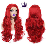 "26"" Fire Red Drag Queen Lace Front Wig-Queenofdrag.com"