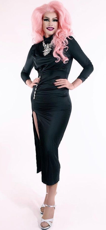 Satine - Drag Queen Long Sleeve Evening Dress-Queenofdrag.com