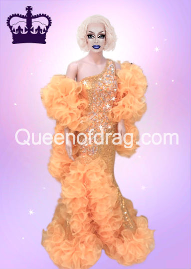 Queen Yellow - Custom Made Drag Queen Sequin Gown