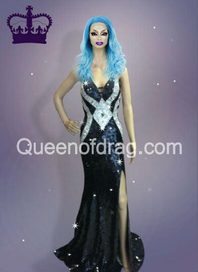 Princess Diamond - Custom Made Drag Queen Sequin Gown-Queenofdrag.com