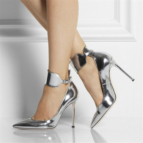 Lucy - Drag Queen Silver Shoes - Plus size-Queenofdrag.com