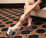 Barbara - Drag Queen Plexiglas Platform Shoes - Plus Size-Queenofdrag.com