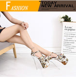Flora - Drag Queen Luxurious Platform Shoes With Floral Print in 4 colours - plus size