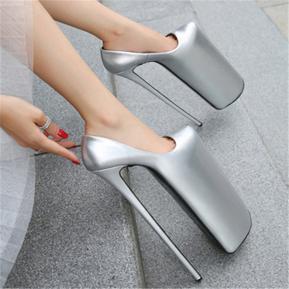Dragzilla - 30cm Extreme High Drag Queen Stiletto Platform Shoes 4 colours - Plus size-Queenofdrag.com