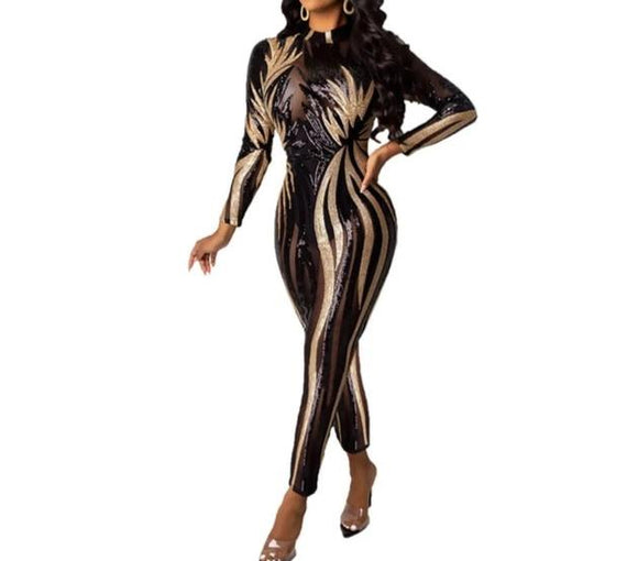 Iris Jump - Drag Queen Sequin Jumpsuit-Queenofdrag.com