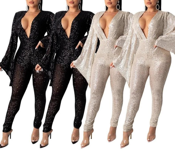 Super Nova - Elegant Drag Queen Jumpsuit-Queenofdrag.com