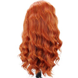 Red / Light Brown Wavy Drag Queen Wig-Queenofdrag.com