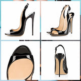 Glamazon - Drag Queen Peep Toe Sandals- Plus size-Queenofdrag.com