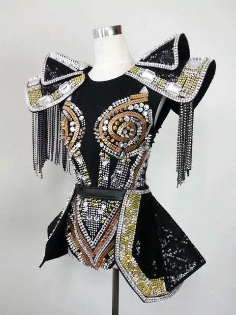 Armor - Custom Made Drag Queen Sequin Fightingsuit-Queenofdrag.com