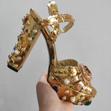 Majesty Gold - Drag Queen Luxury Platform Sandals-Queenofdrag.com