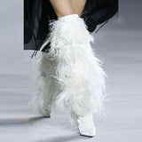 Yeta - Hairy Drag Queen Feather Boots-Queenofdrag.com