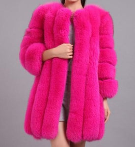Foxxy - Drag Queen Luxury Faux Fur Coat in many colours-Queenofdrag.com