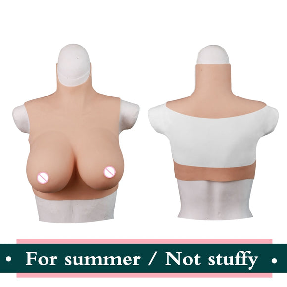 Summer - Drag Queen Realistic Non Stuffy Summer Breast Plates-Queenofdrag.com