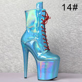 Irisé - Drag Queen Lace Up Platform Ankle Boots-Queenofdrag.com