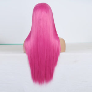 "18""-26"" Drag Queen Straight Fuchsia Lace Front Wig-Queenofdrag.com"