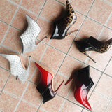 Skin - Drag Queen Ankle Boots In Many Colors - Plus Size-Queenofdrag.com